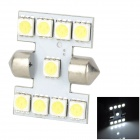 Lgfox Festoon 31mm 1W 120lm 6500K 9-5050 SMD LED White Light Car License Plate / Door Lamp (12V)