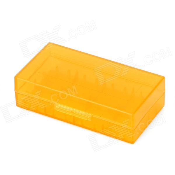 Protective PP Battery Storage Case for 18650 / 17670 / 16340 / CR2 - Translucent Orange