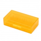 Buy Protective PP Battery Storage Case 18650 / 17670 16340 CR2 - Translucent Orange