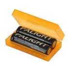 Cas PP Stockage de la batterie de protection 18650/17670/16340 / CR2 - translucide orange