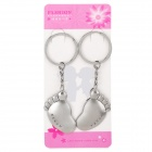 Buy Valentine's Day Gift - Stainless Steel Cute Foot Couple's Keychains