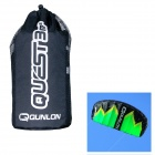 QUNLON Quest-3 3-Sqm Dual Line Parachute Power Kite - Green + Schwarz + Gelb