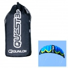 QUNLON Quest 3 3-Sqm Dual Line Parachute Power Kite - Blue + Black + Yellow