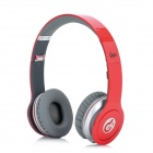 Syllable G05-003 Wired Bass Headphones w/ Microphone for iPhone 4 / 4S - Red + Grey (1.2m)