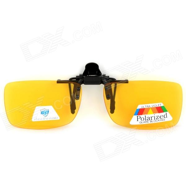 ReeDoon 2902 Polarized Night Clip-On Glasses for Driver - Yellow