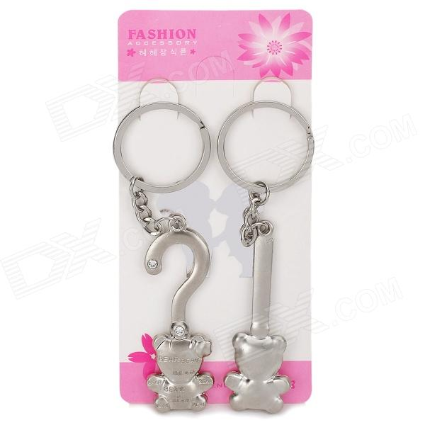 Valentine's Day Gift - Stainless Steel Cute Bear Couple's Keychains