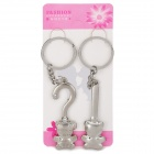 Buy Valentine's Day Gift - Stainless Steel Cute Bear Couple's Keychains