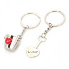 Buy Valentine's Day Gift - Stainless Steel Bucket + Spade Couple's Keychains