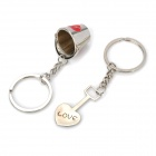 Valentine's Day Gift - Stainless Steel Bucket + Spade Couple's Keychains