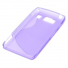 S-Line Style Protective TPU Soft Back Case for Motorola Droid Razr HD / XT926 - Purple