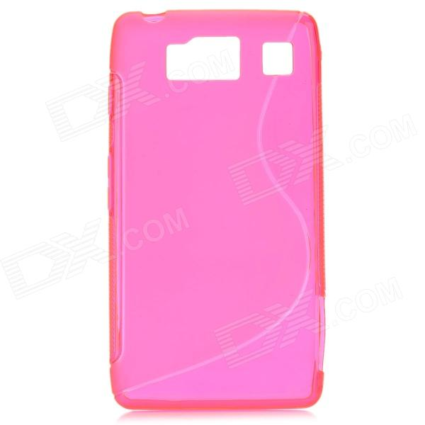 S-Line Style Protective TPU Soft Back Case for Motorola Droid Razr HD / XT926 - Deep Pink велосипед stels navigator 310 2016