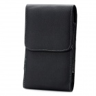Protective PU Leather Case w/ Clip for Samsung Galaxy S4 i9500 - Black