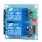 FC-16-C 2-Way 9V Relay Low Trigger Module - Blue