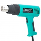 Pro'sKit SS-611H Overheat Protection 750W / 1500W 2-Mode Heat Gun Set - Green + Black (230~240V)