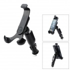 HC-04 Universal Car Charger Holder Stand w/ Bracket / USB Cable for Samsung / Iphone + More - Black