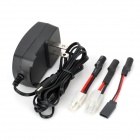 DY003 AC Power  Charger for 2~10 x Ni-MH Battery Pack - Black (2-Flat-Pin Plug)