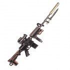 Z01 Cool Zinc Alloy Mini Gun Toy w/ Bayonet - Red Copper + Bright Black + Golden + Silver