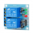 FC-16-E 2-Way 24V Relay Low Trigger Module - Blue