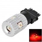 DM13011170 3156 15W 550lm 700nm 5-LR W5AM SMD LED Red Light Car Steering / Backup Light - (12~24V)
