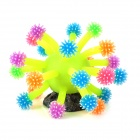 Fish Tank Vivid Decoration Sea Urchin - Yellow + Colorful Tentacle