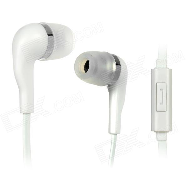 купить Wallytech WHF-099 3.5mm In-ear Stereo Earphone w/ Microphone - White недорого