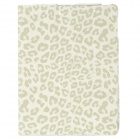 Ultrathin Leopard Style Protective PU Leather Case for Ipad 2 / The New Ipad / Ipad 4 - White