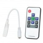 Mini 12V RF 433.92MHz Wireless Remote Controller for LED Light - White (1 x CR2025)