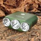 RUSTU DK17 CREE XM-L-T6 + 2 x XP-G R5 1400lm 5-Mode White Bicycle Light - Green (4 x 18650)