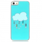 Rain Cloud Style Protective Plastic Back Case for Iphone 5 - Cyan