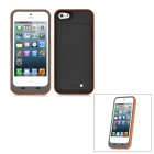 Portable External 2000mAh Emergency Battery Charger Back Case for iPhone 5 - Deep Grey + Orange
