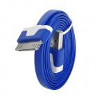 USB to 30-Pin Male to Male Sync Data Flat Cable for iPhone 4 / iPhone 4S - Blue