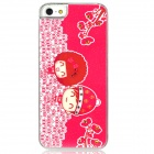Cute Lovers Pattern Protective Plastic Back Case for Iphone 5 - Red + White