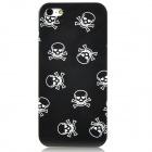 Love Heart Eyes Skull Style Protective Plastic Back Case for Iphone 5 - Black + White