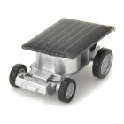 BAIYUAN 6688 World Smallest Solar Power Car Toy - Black + Silver