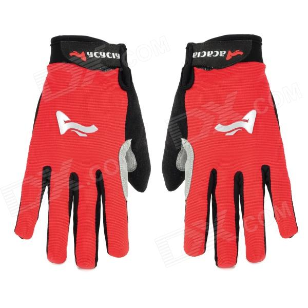 ACACIA 0394014 Cycling Bicycle / Bike Full-finger Gloves - Red + Black (Pair / Size XL) spakct s13g10 bicycle cycling full finger gloves black white xl