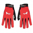 ACACIA 0394014 Cycling Bicycle / Bike Full-finger Gloves - Red + Black (Pair / Size XL)