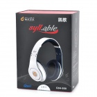 Syllable G04-900 Wired Gaming Headphones w/ Microphone for Iphone 4 / 4S - White + Black (1.3m)