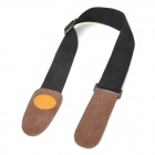 N-1 Oxhide Guitar Strap Belt - Brown + Black