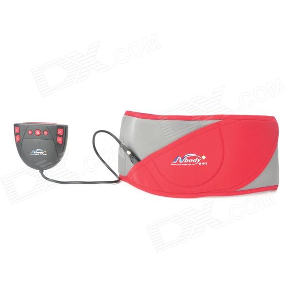 2.1 LCD Pulse Fat-Reduction Massage Waistband - Red + Grey