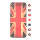 Retro Style UK Flag Pattern Back Sticker w/ Round Button Stickers for iPhone 5 - Red + brown + black