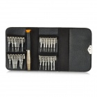 K PAI K-1246 Universal 25-in-1 Professional Disassembly Repairing Tool w/ Key Case - Silver