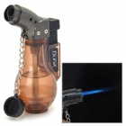 Y-288 Bottle Shaped 1300 Centigrade Windproof Butane Jet Torch Lighter - Translucent Coffee + Black