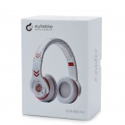 Syllable G18-002 Bluetooth v4.0 Noise Reduction Headphones w/ Microphone - White + Red