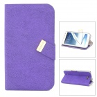 BASEUS LTSAN7100-XY05 PU Flip-Open Case for Samsung Galaxy Note 2 / N7100 - Purple