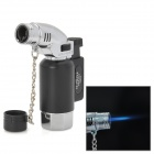 922 1300 Centigrade Windproof Blue Flame Butane Jet Torch Lighter - Black + Silver