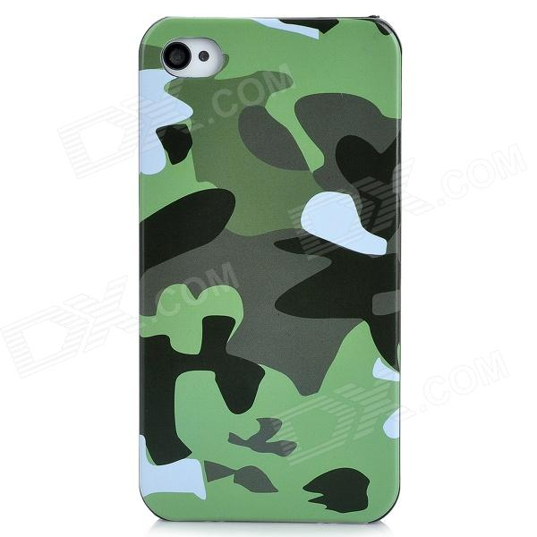 Protective Camouflage Pattern Plastic Back Case for Iphone 4 / 4S - Green iris pattern protective plastic back case for iphone 4 4s white