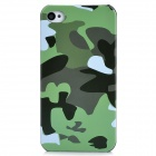 Protective Camouflage Pattern Plastic Back Case for iPhone 4 / 4S - Green