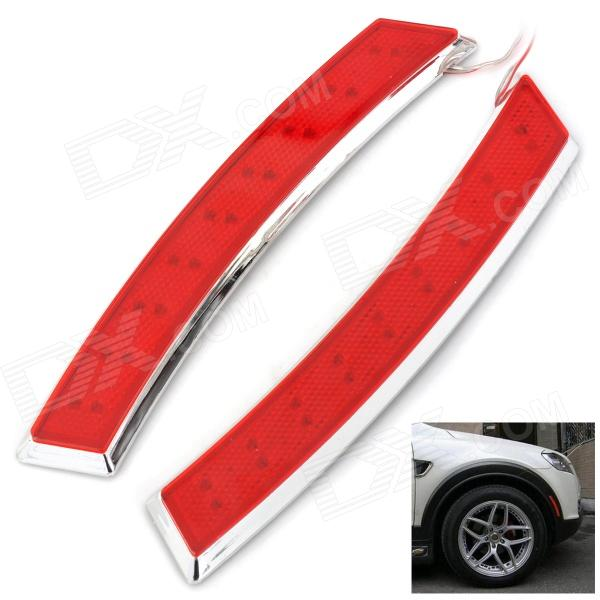 YI-251 2.2W 18-90lm LED Fender Flares Light Red Light Directivo Decoración - Red + Plata (2 PCS)