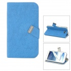 BASEUS LTSAN7100-XY03 PU Flip-Open Case for Samsung Galaxy Note 2 / N7100 - Blue
