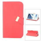 BASEUS LTSAN7100-XY09 PU Flip-Open Case for Samsung Galaxy Note 2 / N7100 - Red